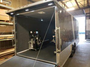 Custom Rig trailer with machine